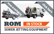 Machines in stock for sewer jetting equipment