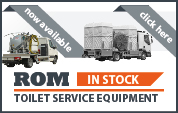Machines in stock for toilet service equipment
