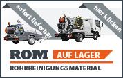 Klicken Sie hier zur Anzeige aller Neumaschinen auf Lager Rohrreinigungsmaterial