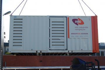 Hogedruk inbouw in Container